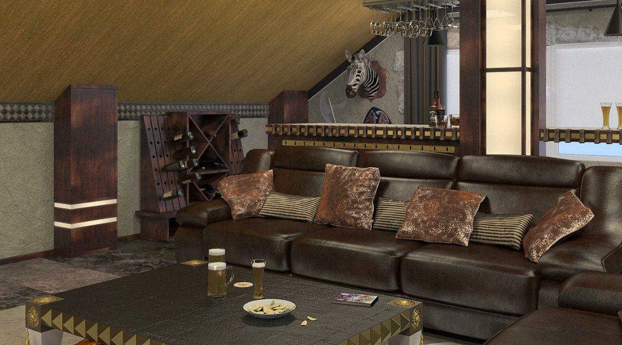 Гостиная в колониальном стиле. Проект студии интерьера ИндигоДом