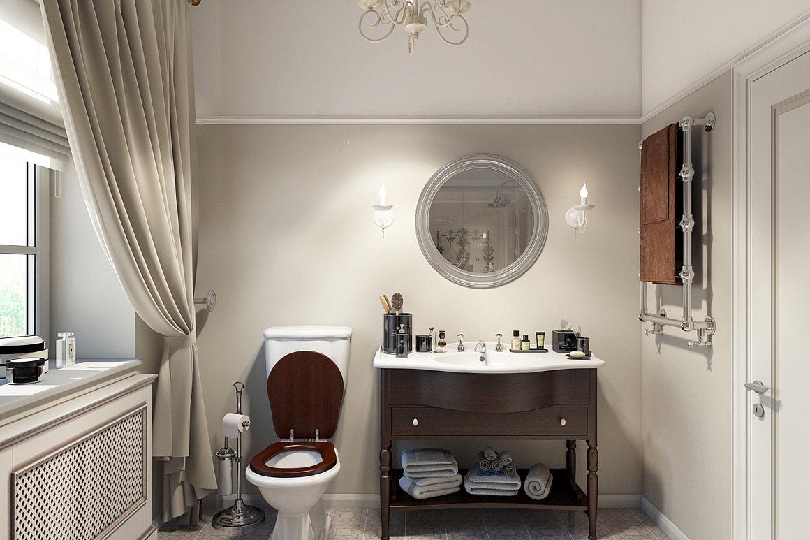 Классическая «нарциссическая» ванная. Проект студии дизайна интерьеров BTNK Architects