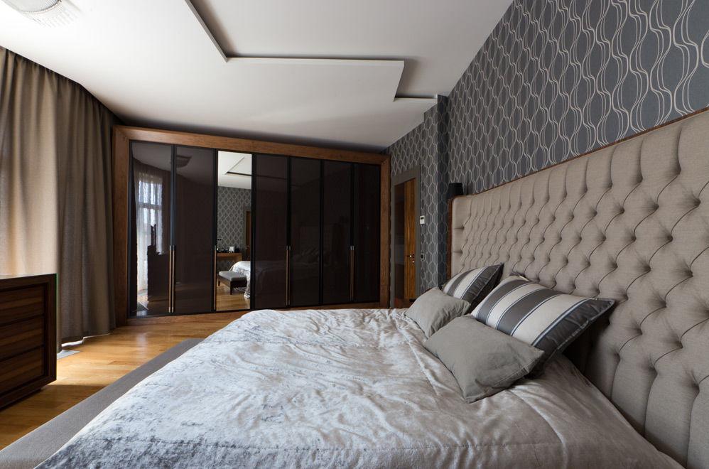 Спальня в минималистском стиле.  Проект студии дизайна интерьеров BTNK Architects