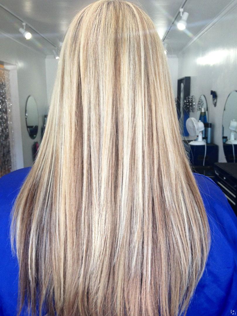 мелирование волос на белые волосы видео