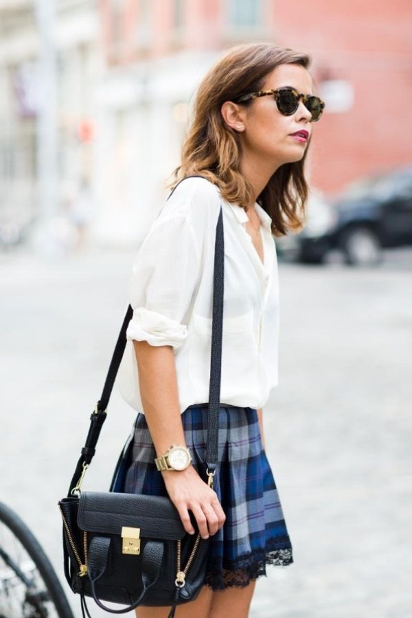 Рубашка с мини-юбкой